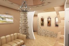 Artistic Stacked Stone Walls to Catch Your Attention - Top Inspirations House Ceiling Design, Tv Wall Design, House Design, Living Room Partition Design, Room Partition Designs, Stone Interior, Home Interior Design, Living Room Designs, Living Room Decor