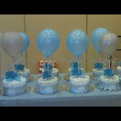 Yes..mini balloon diaper cakes kreated by none other than myself. Baby Elephant theme. Thank you Maria Martinez & Irving Zamora for allowing me to be a part of your day. March 2015 #babyboyshower #babyelephant #blue #silver