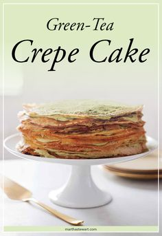 The sweetest way to enjoy green tea! Layer crepes, cream and green tea powder to create a unique and tasty dessert!
