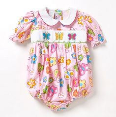 Butterflies and Flowers Onesie for Baby.