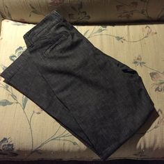 Classic Jeans These a classic jeans in a trouser style. Really cool texture on the fabric. In perfect condition. Inseam is 31in. Coldwater Creek Jeans Flare & Wide Leg