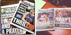 What a difference a week makes! Side by side comparison of last week and this week's Lin headlines