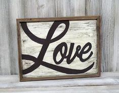 Create a Rustic Love sign with supplies from Ben Franklin Crafts and Frame Shop in Bonney Lake, Wa.