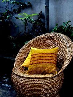 wicker/ rattan chair