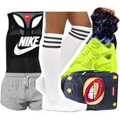 A fashion look from February 2015 featuring crew socks, NIKE and red backpack. Browse and shop related looks.