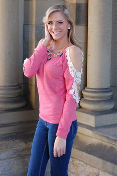 Pink Slate Boutique - Heart On My Sleeve (Pink), $42.00 (http://www.pinkslateboutique.com/heart-on-my-sleeve-pink/)