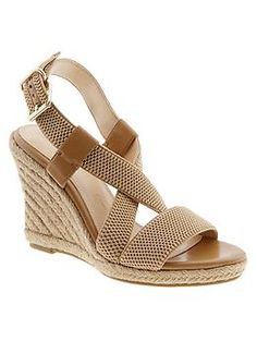 Summer's must-have shoe -  The Banana Republic Pipperr Espadrille Wedge, the perfect summer wedge, i'm obsessed!