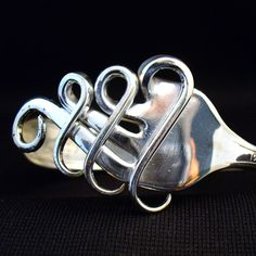 Fork Bracelet Hand Made Jewelry from an Antique Silver Fork. $39,99, via Etsy.