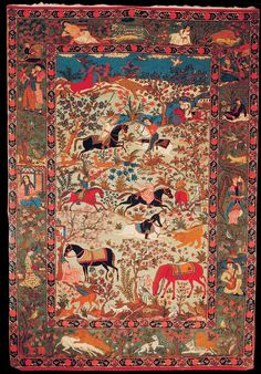 Image result for antique persian handmade carpet in museum of iran