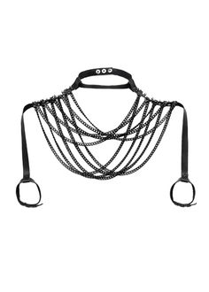 Blair Leather Shoulder Body Chain by JAKIMAC | Shop Now