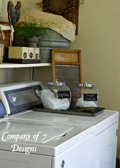 Company of 7 Designs: Chalk Paint Label Tutorial Laundry Room Ideas