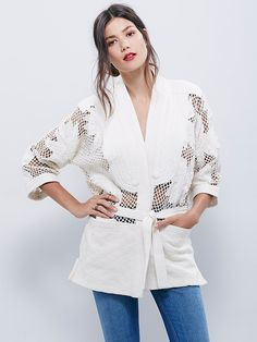 New Romantics Hidden Flowers Jacket at Free People Clothing Boutique