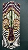African Bean Mask, would need to be small, or group activity..or pointillism