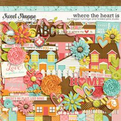 Where The Heart Is Digital Scrapbook Kit by Megan Turnidge & Tickled Pink Studio