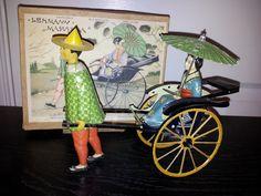 Lehmann Masuyama  Mechanical tin toy from 1920s/ebay