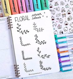 Bullet Journal Doodles: 20 Amazing Doodle Ideas For Beginners & Beyond! - Meraadi These bullet journal doodles and doodle tips and ideas are exactly what you need to learn how to doodle. Perfect for beginners and more advanced doodlers! Bullet Journal School, Bullet Journal Inspo, Bullet Journal Titles, Bullet Journal Banner, Journal Fonts, Bullet Journal Aesthetic, Bullet Journal Notebook, Bullet Journal Numbers, Beginner Bullet Journal