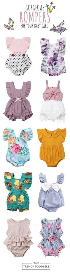 /♥ Beyonds Ruffles Rose Floral Embroidery Bodysuit Soft Jumpsuit Outfits Baby Onesies Playsuit Pants Clothes Summer Baby Toddler Newborn Girls Boys Rompers