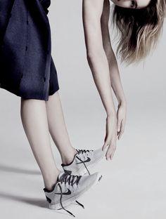 """""""V"""": Natalia Vodianova by Jean-Baptiste Mondino for Harper's Bazaar UK September 2013"""