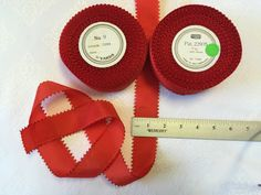 50 Yards of Red Picot Ribbon. Vintage Picot Edge Rayon.Made in Switzerland. Red Ribbon, Picot Ribbon. by AnafrezNotions on Etsy