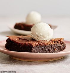 The gooiest of brownies, moist and soft, and ideal as a decadent dessert to serve with ice cream. Wowwee, delicious!