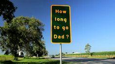 Humorous Highway Road Sign, Queensland, Australia Stock Footage ...