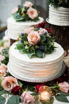 Rustic chic white textured wedding cake trio topped with roses and blue thistle flowers cake dessert weddingcake flowers rose weddingflowers rusticwedding weddingideas virginia 464644886556714803 Textured Wedding Cakes, Small Wedding Cakes, Wedding Cake Roses, Wedding Cake Rustic, White Wedding Cakes, Elegant Wedding Cakes, Wedding Cakes With Flowers, Beautiful Wedding Cakes, Wedding Cake Designs