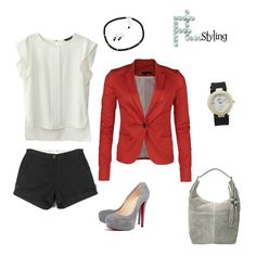 Red & Grey Outfits | Red Grey Black Outfit