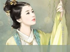 Charming  Ancient Chinese Woman Wallpaper  8