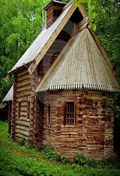 little Round & Square Cabin Together