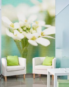 Floral wall mural by Murals Your Way