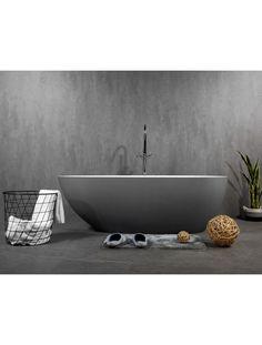 Egg shape solid surface bathtub bu Prodigg. The Oceania stone bath is available 1500mm and 1700mm in grey and white Square Bathtub, Small Bathtub, Stone Bathtub, Cast Iron Bathtub, Big Bathrooms, Bath Tubs, Egg Shape, Solid Surface, Grey And White