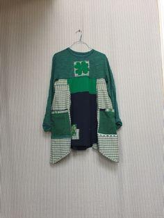 Upcycled Clothing St Patricks Day Green Shamrock Dress