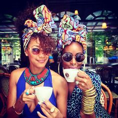 Sipping tea with the head gear on check