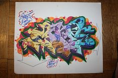 Graffiti art from the Black book of Artist Cope2.