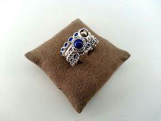 PANDORA Ring Stack in Blue.