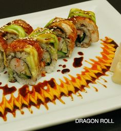 Dragon fly roll sushi | ... www.sushiencyclopedia.com/sushi_roll_recipes/dragon_roll_recipe.html