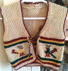 Cowichan Sweater Vest 1824 Months by lishyloo on Etsy, $14.00
