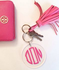 d.i.y. leather tassel keychain.