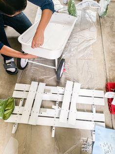 DIY All White Wagon in 5 Easy Steps   Just A Tina Bit Diy Wedding Wagon, Wedding Ideas, Fall Wedding, Wedding Decor, Wedding Planning, Red Flyer Wagon, Radio Flyer Wagons, Flower Girl Wagon, Ring Boy