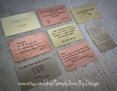 Custom Wallet Card Insert Wedding by SimplyYoursByDesign on Etsy