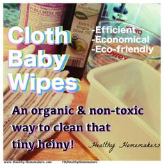 Cloth Baby Wipes- For A NATURALLY clean behind!