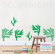 Seaweed Vinyl Wall Decal Ocean Decor Nautical by ModernVector