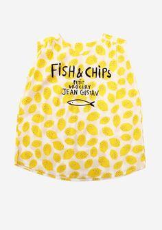 Dress Tunic S/L Lemons crèpe