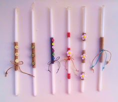 easter candles 2012 Orthodox Easter, Handmade Candles, Easter Crafts, Baptism Ideas, Lent, Birthday Candles, Homemade Candles