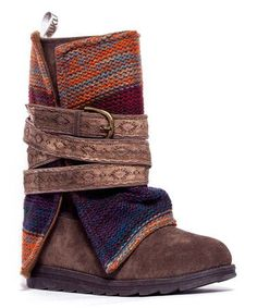 Look at this #zulilyfind! Medium Beige Nikki Belt-Wrapped Boot by MUK LUKS #zulilyfinds