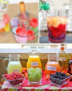 """28 Tips for Stress-Free Outdoor Party - Drink ideas and tips to make your next party the best! """" Drink ideas and tips to make your next p - Bbq Party, Yard Party, Party Drinks, Bbq Food Ideas Party, Adult Party Ideas, Cocktails, Outdoor Party Foods, Outdoor Parties, Backyard Parties"""