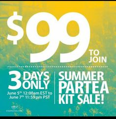 Tomirrow is the last day to take advantage of this awesome deal. Sign up at www.mysteepedteaparty.com/ESTELAFLORES