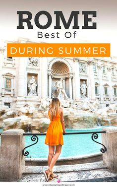 There are so many things to do in Rome, especially during the summer months! Discover some very unusual places and things to see in the city AND surrounding areas that not many people know of! #Rome #italy #vacation #traveltips #travelblog