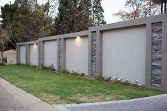 The Creative Stone Company - Creating Beautiful Spaces backyard design diy ideas Front Wall Design, House Fence Design, Exterior Wall Design, Modern Fence Design, Door Gate Design, Entrance Design, Garden Design, Concrete Fence Wall, Tor Design