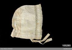 Cotton day cap, Swedish, late 1830's. Nordiska Museet, nr. NM.0105285